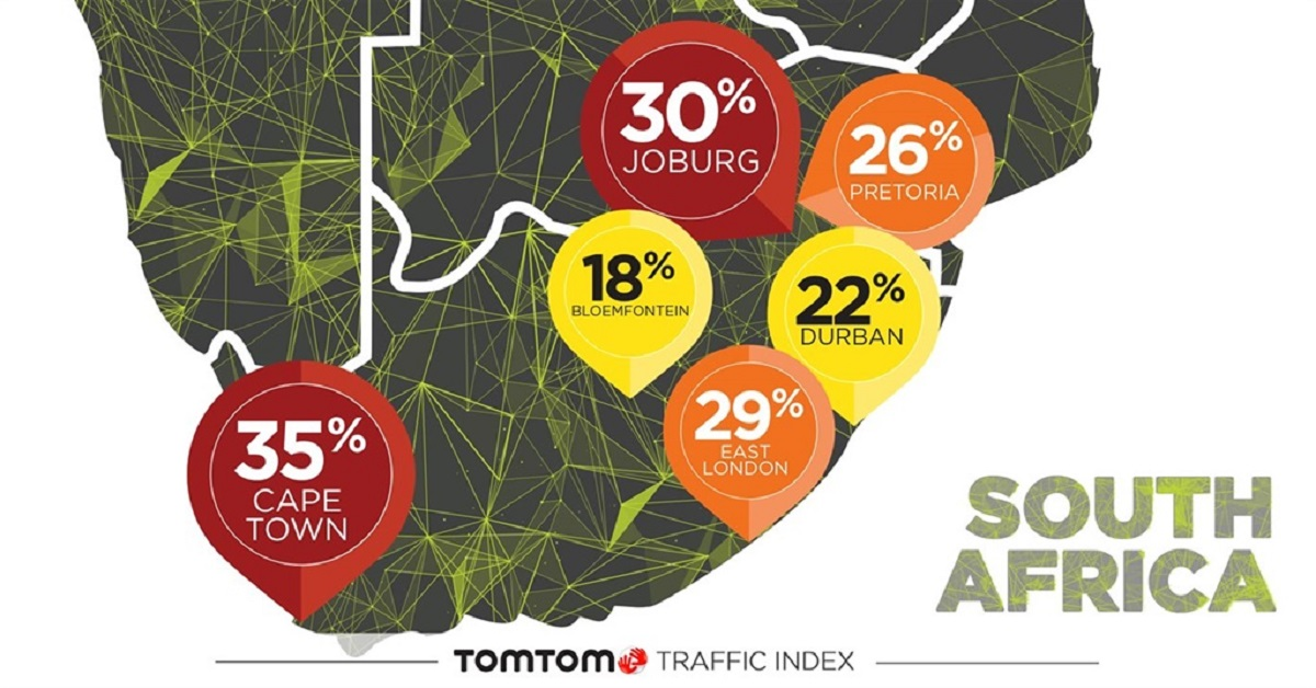 TomTom Traffic Index Map | Car Insurance News | Hippo.co.za