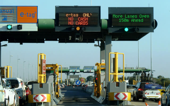 One of the many toll gates in South Africa