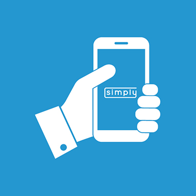 Hand holding cellphone | History of Simply | Hippo partner