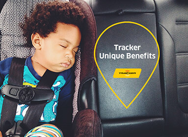 Infant asleep in car seat
